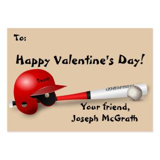 Baseball Theme Valentine Business Card Size