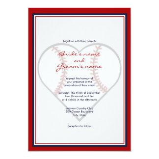 "Baseball Theme Wedding Invitations 5"" X 7"" Invitation Card"