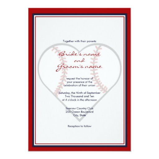 Baseball Wedding Invitations and get inspiration to create nice invitation ideas