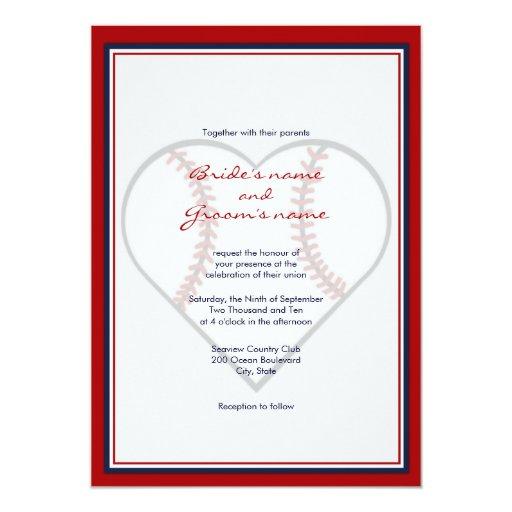 Baseball Wedding Invitations and get inspiration to create nice invitation ideas