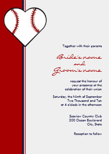 baseball wedding invitations zazzle