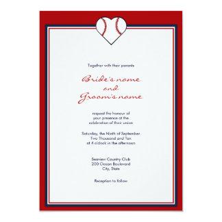 Baseball Theme Wedding Invitations