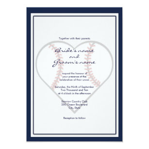 Baseball Wedding Invitations Announcements Zazzle
