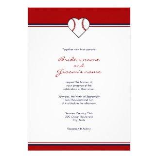 Baseball Theme Wedding Invitation