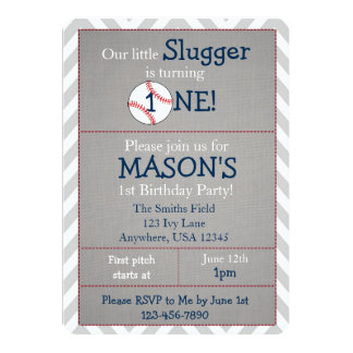 Baseball Party Invitations Announcements Zazzle