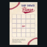 """Baseball Themed Baby Shower Bingo Game Flyer<br><div class=""""desc"""">Our baseball themed baby shower bingo is an easy and fun game to have at a baby shower. Hand the cards out to the guests and let them fill in the blanks with gifts they think the new mom may receive. As the gifts are opened the guests check off corresponding...</div>"""