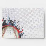 Baseball Themed Bar Bat Mitzvah Envelope