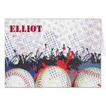 Baseball Themed Bar Mitzvah Folded Thank You card