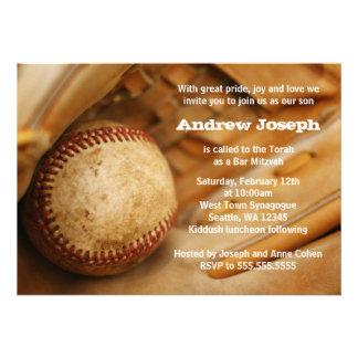Baseball Themed Bar Mitzvah Invitations Announcement