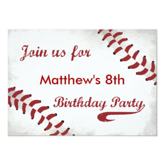 Baseball Theme Birthday Party Invitations Announcements Zazzle