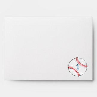 Baseball themed First Birthday Envelopes