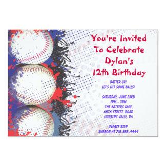 Baseball Themed Invitation Happy Birthday Party