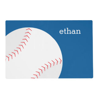 Baseball Themed Kids Placemat