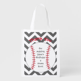 Baseball Themed Party Bags- Birthday Party Reusable Grocery Bag