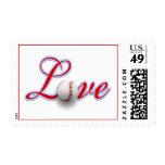 Baseball Themed Wedding Love Sports Themed Wedding Stamp