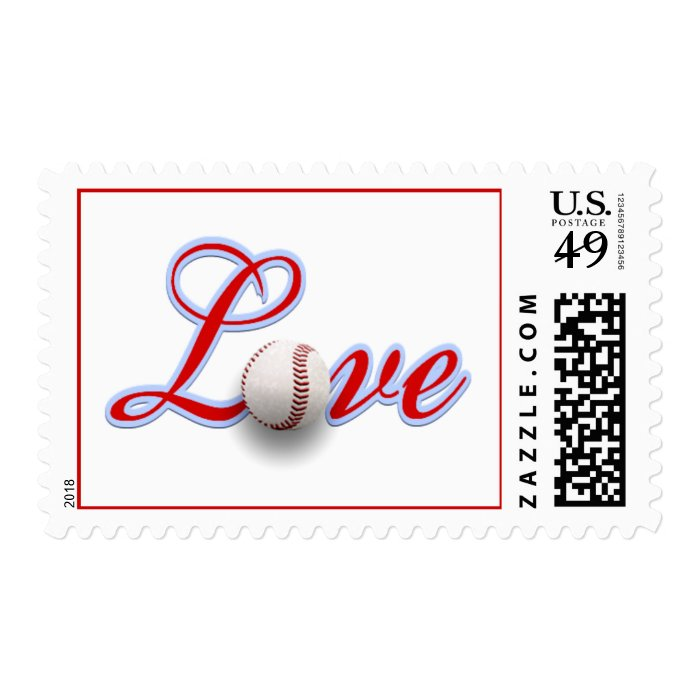 Baseball Themed Wedding Love Sports Themed Wedding Stamp