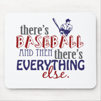 baseball then eleverything else mouse pad