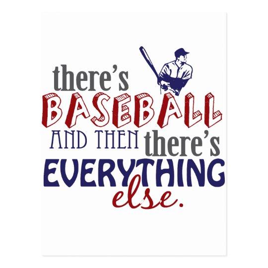 baseball then eleverything else postcard