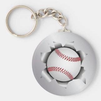 baseball thru metal sheet keychain