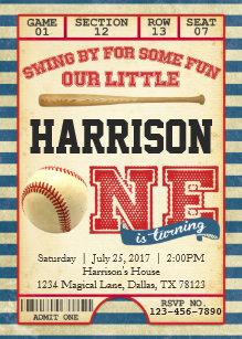 baseball ticket invitations zazzle