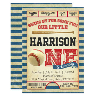 Baseball Birthday Invitations & Announcements | Zazzle