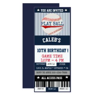 Baseball Ticket Invitation