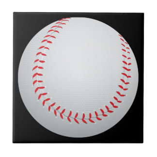 Baseball Small Square Tile