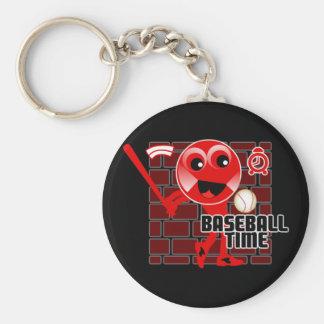 Baseball Time Basic Round Button Keychain