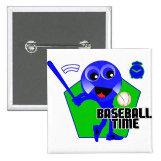 Baseball Time Pinback Buttons