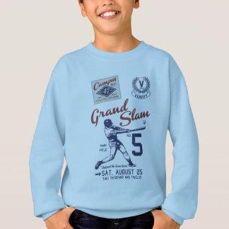 Baseball to player sweatshirt
