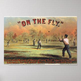 Baseball Tobacco Vintage Advertisement Art Print