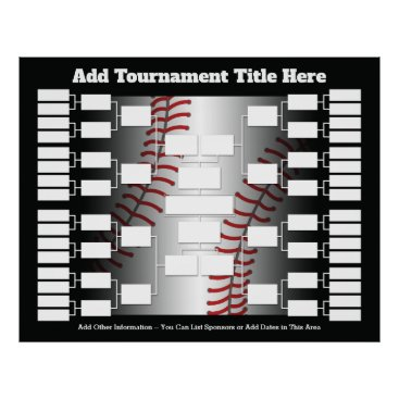 Art Themed Baseball Tournament Bracket for 32 Teams Poster