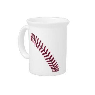 Baseball Tread Beverage Pitcher