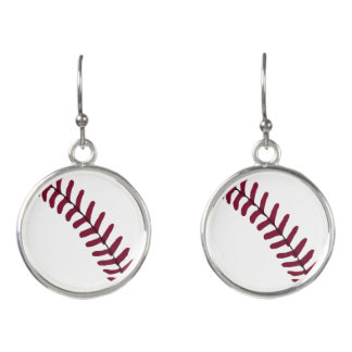 Baseball Tread Earrings