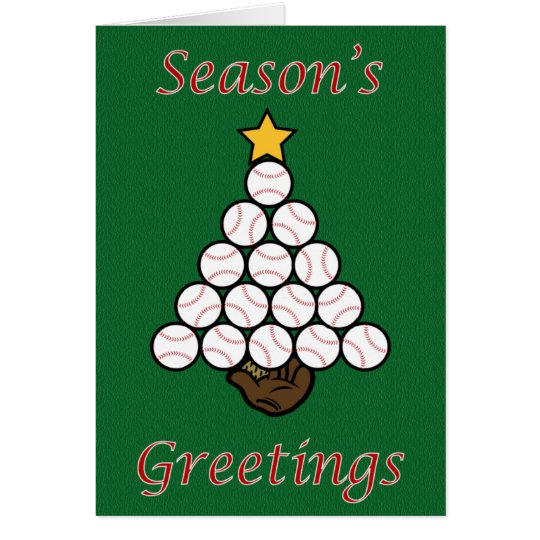 Baseball Tree Card