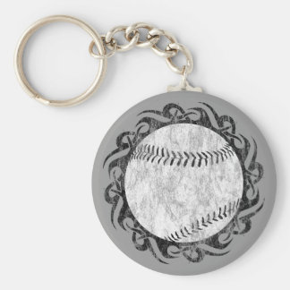 baseball. tribal. keychain