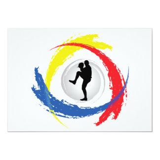 Baseball Tricolor Emblem Card
