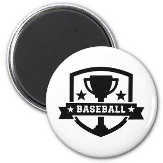 Baseball trophy champion fridge magnets