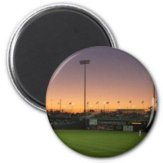 Baseball twlight 2 inch round magnet