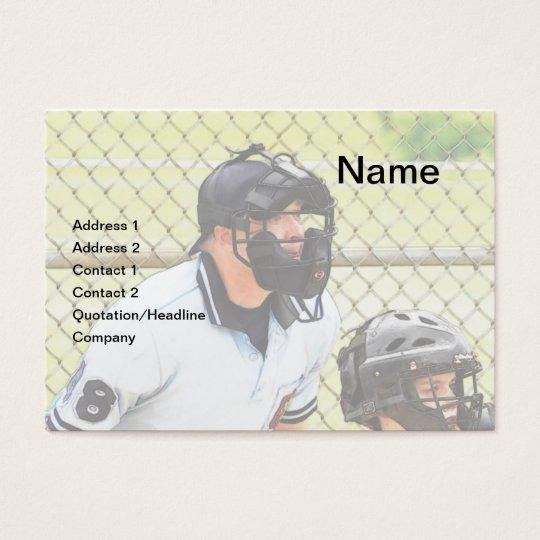 baseball umpire business card