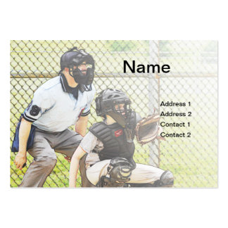 baseball umpire business card templates