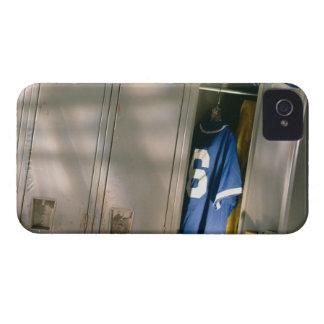 Baseball uniform and equipment in locker iPhone 4 covers