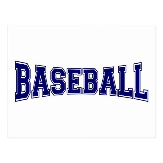 Baseball University Style Postcard