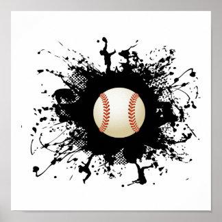 Baseball Urban Style Poster