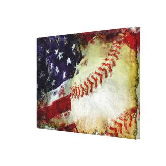Baseball USA Canvas Prints