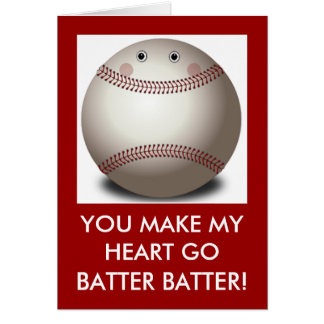 BASEBALL VALENTINE CARD