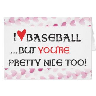 Baseball Valentine Card - I heart (love) Basebal..