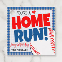 Baseball Valentine Gift Tag