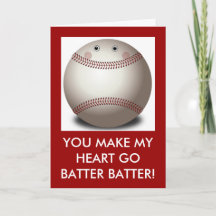 Baseball Valentine Cards Zazzle