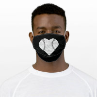 Baseball Valentines Day Heart Vintage Adult Cloth Face Mask